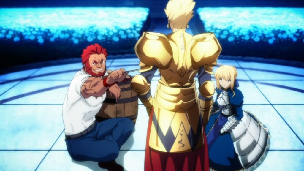 Rider, Saber and Gilgamesh