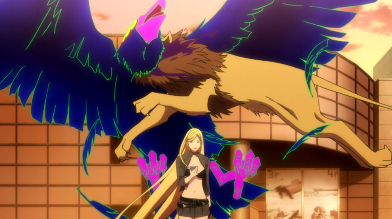 If I can't interest you in a show where a lion side-tackles a glowing demon bird while his awesome lady-boss chills in front of him, WELL I JUST DON'T KNOW WHAT TO DO WITH YOU.