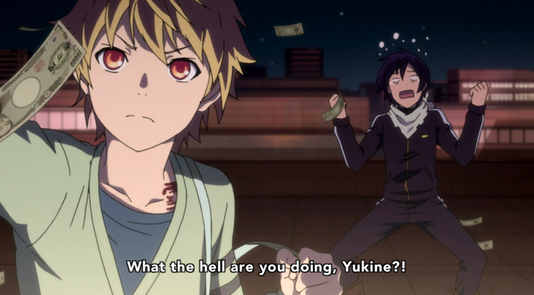 C'mon, Yato! What's the point of having a bag of money if you can't make it rain at least once?